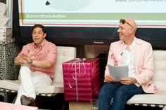 Freinds Robert Verdi & Jonathan Adler Talk about Father's Day Gifts at Tweet This! at Luxe Laboratory