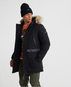 Shop Superdry Mens Waterproof Premium Ultimate Down Parka in Jet Black. Buy now with free delivery from the Official Superdry Store. Superdry Jackets, Superdry Mens, Men's Jackets, Chino Joggers, Down Parka, Mens Sale, Canada Goose Jackets, Sneakers Fashion, Winter Jackets