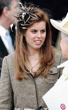 Princess Beatrice at a service of prayer and dedication blessing the marriage of Prince Charles and Camilla Parker Bowles
