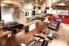 Barber shop on wheels
