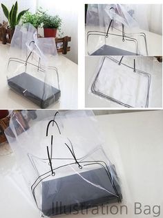 To put special stuff in the bag! This plastic bag is almost transparent and drawn a tote bag shape. A set is composed of 20 bags. Great for gift and many more. -♣ includes : 20 bags -♣ size : x x (in) -♣ design and made/ Korea -♣ materials : PE Plastic Bag Packaging, Cute Packaging, Shopping Bag Design, Winery Tasting Room, Transparent Bag, Packaging Design Inspiration, Purses And Bags, Logo Design, Shapes