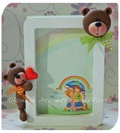 Ursinhos em mini porta retrato!