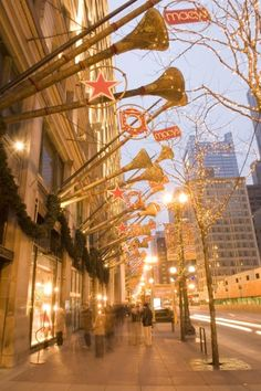 State Street in Chicago at Christmas time...One of my favorite memories of growing up