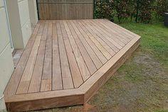 Terrasse bois exotique cumaru Deck Construction, Backyard, Wood, Gardens, Terrace, Garden Landscaping, Terraces, Bricolage, Patio
