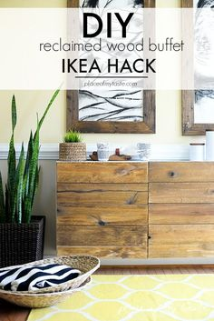 What a fantastic IKEA HACK! Come see how we turned a simple white IKEA shelving unit to a high end looking buffet!