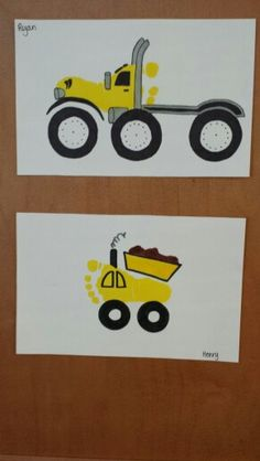 Footprint truck art craft for kids!