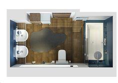 Námořnická koupelna | AŤÁK DESIGN Bathroom Lighting, Studios, Mirror, Furniture, Home Decor, Design, Bathroom Light Fittings, Bathroom Vanity Lighting, Decoration Home