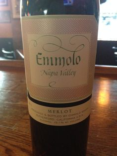 ^2013 Emmolo Merlot - Dark, dark ruby red in color. Blackberry and plum with excellently integrated oak burst into the nose. Dry and full bodied with a soft velvety structure. Balanced and harmonious. A lovely wine.