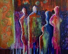 Items similar to Modern persian - acrylics on canvas, cm (figurative abstract, original, handmade) on Etsy