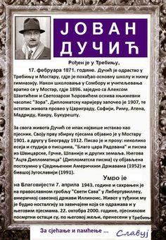 SlAvKo JOVIČIĆ SLAVUJ: За сва времена! На данашњи дан, 7. априла умро је  славни српски пјесник и дипломата  ЈОВАН ДУЧИЋ