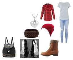 """""""cerise hood"""" by adelmark ❤ liked on Polyvore featuring Gray & Willow, Charlotte Russe, Vince, Volcom, Frye and AeraVida"""