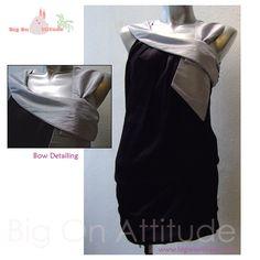 Kolina Bow Neck Drop-Waist Drape Tunic