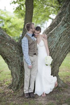 jeans gingham casual chic bride - Google Search