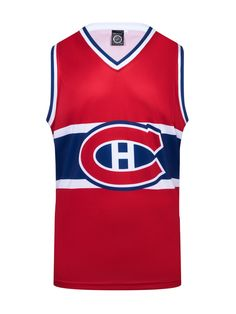 """Get ready to rock your Montreal Canadiens Hockey Tank all year round!  This NHL officially licensed, light-weight polyester tank top is perfect to wear any time the sun is out. The perfect top to rock on a summer day in Montreal. #GoHabs  Officially licensed product of the NHL by Calhoun 100% Polyester 100% Machine Wash Safe Official NHL team colors and logos Fits like a """"hockey basketball jersey"""" Montreal Canadiens, Basketball Jersey, Nfl Football, Nhl, Hockey, Tank Tops, Tanks, How To Wear, Logos"""