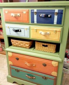 Suitcase Decor - Unusual Home Decor Ideas • One Brick At A Time