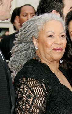 Toni Morrison's Locs - 02/18---81; those locs are serious and beautiful, have a happy birthday.