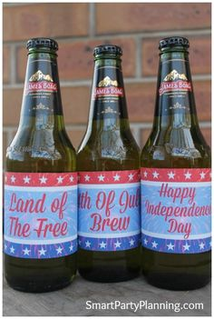 4th of July Printables For Beer Bottles Click here: http://smartpartyplanning.com/4th-of-july-printables-for-beer-bottles/ #BeerLabels #Printables #4thJuly