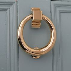 Brass Hoop Door Knocker