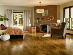 Bruce Hickory Brown hardwood flooring.