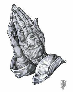 Tattooed praying hands, my next tattoo forsure Gangster Tattoos, Chicano Art Tattoos, Chicano Drawings, Kunst Tattoos, Chicano Tattoos Gangsters, Hand Tattoos, Body Art Tattoos, Sleeve Tattoos, Tattoo Art