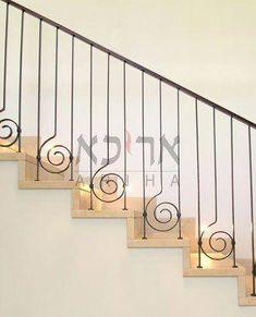 Iron Stairs Railing Ideas Diy New Ideas Staircase Railing Design, Interior Stair Railing, Wrought Iron Stair Railing, Balcony Railing Design, Staircase Handrail, Iron Staircase, Metal Stairs, Modern Stairs, Railing Ideas