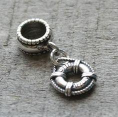 Life Preserver Dangle Charm Bead - Pandora Compatible