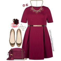 """#plus #size #fashion """"Plus Size - Wine Dress"""" by alexawebb on Polyvore @alexandrawebb"""