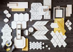Hudson Woods - Where Design Meets Nature – From the Source: Walker Zanger Floor Design, Tile Design, House Design, Penny Tile, Interior And Exterior, Interior Design, Concept Board, Tile Patterns, Mosaic Tiles