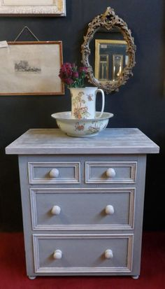 Two over Two chest of drawers painted in Craig and Rose £165
