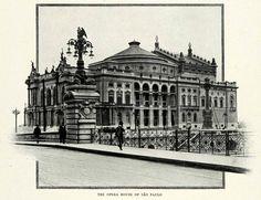 Teatro Municipal de São Paulo em 1917.