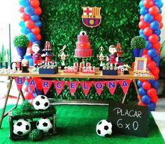 Festa do Barcelona para o Higor⚽#barcelona #barcelonaparty#festabarcelona#festademenino #decoracaodemenino#decoracaofutebol