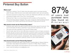 Marketing with Pinterest - the Pinterest Buy Button enables users to purchase directly within the app