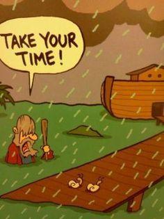 Funny Bible Old Testament Noah's Ark Flood Cartoon Joke Pictures and Images Cartoon Jokes, Cartoon Pics, Funny Cartoons, Cartoon Picture, Christian Cartoons, Funny Christian Memes, Christian Humor, Atheist Religion, Atheist Humor
