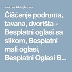 Čišćenje podruma, tavana, dvorišta - Besplatni oglasi sa slikom, Besplatni mali oglasi, Besplatni Oglasi Beograd, Besplatni Oglasi Novi Sad, Besplatni Oglasi