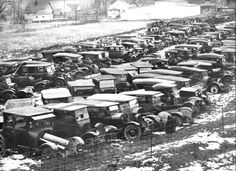 vintage everyday: Vintage Photos of Classic Car Salvage Yards and ...