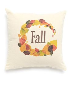 Love this 'Fall' Leaf Throw Pillow on #zulily! #zulilyfinds