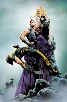Jae Lee - Wolverine vs Dark X-Men