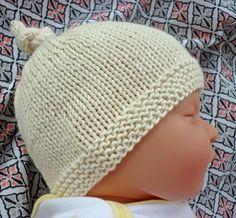 Knitting: Tegan Top-Knot Baby Hat #baby #diy #knitting    MATERIALS:  25…