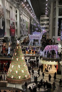 Toronto Eaton Centre, Toronto, is home to over 250 best-in-class retailers, restaurants, and services in the heart of downtown. #holiday #shopping