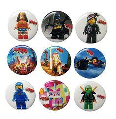 Lego Movie Buttons Badges 9 Pcs Set 1 ** Click image to review more details. Lego Disney, Lego Movie, Button Badge, Disney Frozen, Badges, Robot, Badge, Robots, Lapel Pins