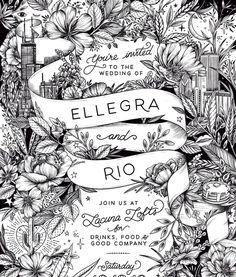 Friends My Friend Invitations Weddings Artwork Illustration Instagram Printmaking Rio