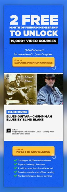 Blues Guitar - Chump Man Blues by Blind Blake Music Production, Creative, Guitar, Other, Acoustic Guitar, BLUES GUITAR, Fingerstyle Guitar, Blind Blake, Ragtime Guitar #onlinecourses #onlinetrainingwebsite #onlinelessonslink   The Blues Guitar of Blind Blake  Chump Man is a lazy flowing ragtime blues guitar song in dropped D with some hidden syncopation! It needs to be played with a delicate feel,...
