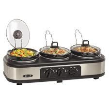 Bella Triple Slow Cooker Buffet - perfect for nacho bar! Specialty Appliances, Small Appliances, Kitchen Appliances, Kitchens, Slow Cooking, Cooking Tools, Triple Slow Cooker, Nacho Bar, Purple Kitchen