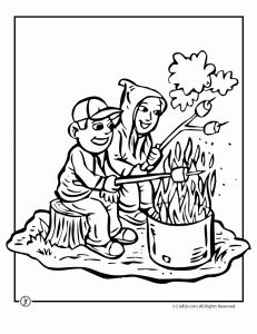 Camping Coloring Pages #camping