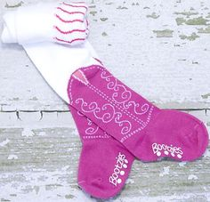 Itty Bitty Pink Cowboy Boot Tights Bootzies for Your Baby Cowgirl Sz 0 6 Mos   eBay