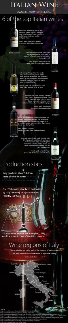 Italian Wine Infographic #wine #wineeducation #italy #italianwine #italianinfographic