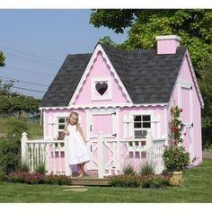 Little girl play house by lauren