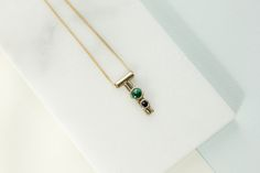 Malachite and Onyx Tiny Dancer Necklace