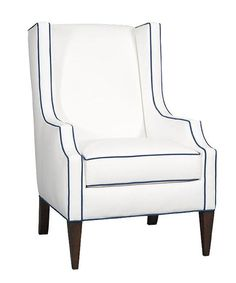 Fashion takes flight in the Pressley wing chair. Photo: Sam Moore Furniture.