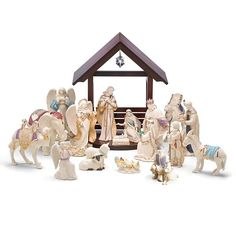 First Blessing Nativity 19-piece Figurine Set By Lenox